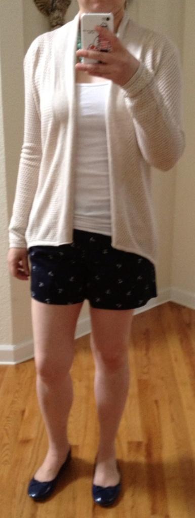TJ Maxx shorts cardigan