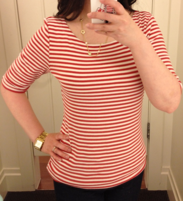 Banana Republic Striped Elbow Tee