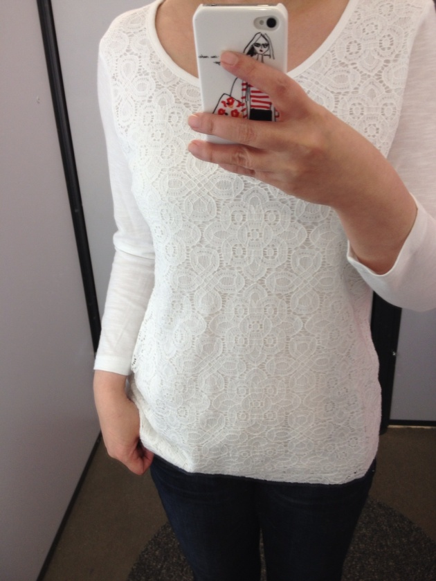 Old Navy Crochet Lace Top