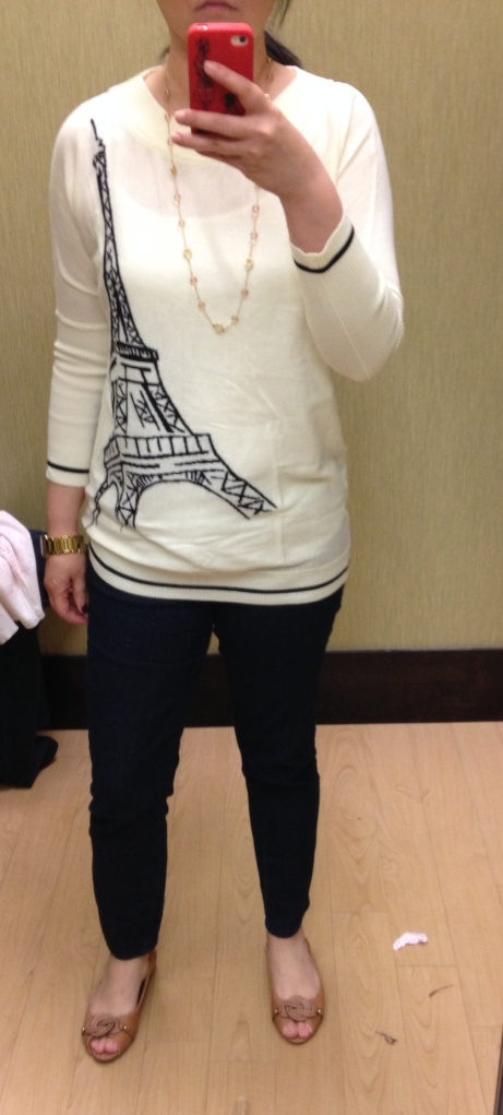 Eiffel Tower Sweater $58 (currently addl 25% off)