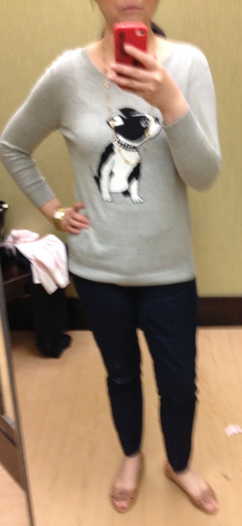 Apt 9 Bulldog Sweater $50 (currently on sale for $30 in store)