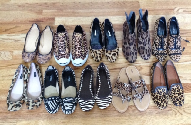 (l-r, top) J.Crew, Jack Purcells, Ecco wedge, Impo wedge booties, Vaneli booties (l-r, bottom) NYLA (Nordstrom) flats, Michael Kors, Banana Republic, Gap, Banana Republic (favorite!)