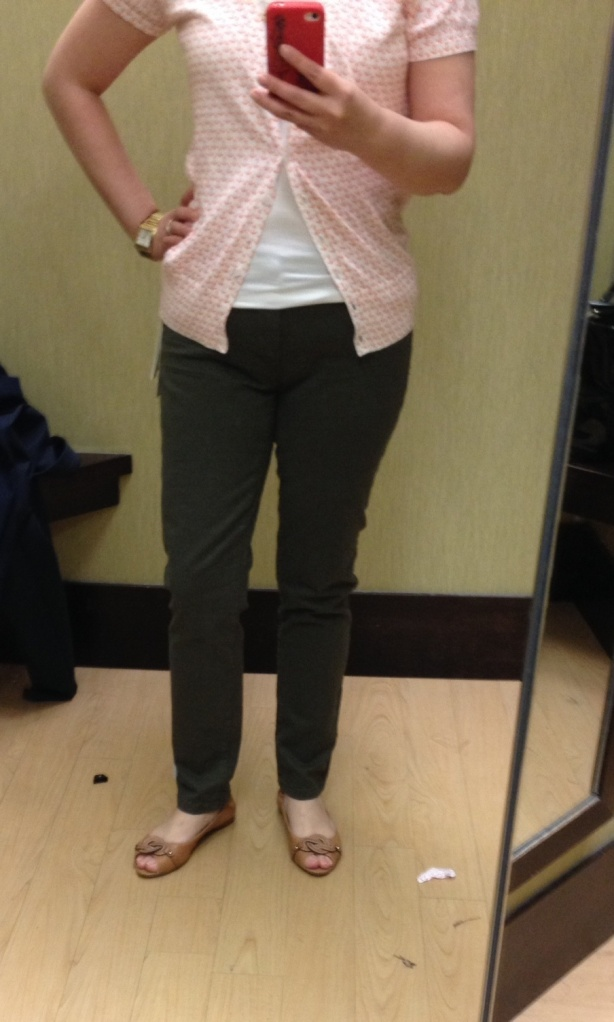 Khaki Twill Pants $54 (currently 50% off in store)