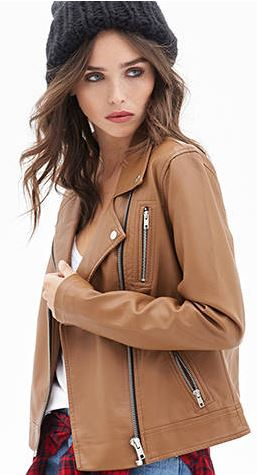 Forever 21 Faux Leather Moto Jacket $25